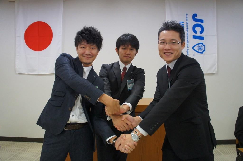 左から松井雄佑君、金津誉君、平澤淳君